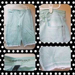 Turquoise Lane Bryant Jean Shorts